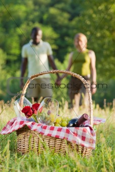couple picnicking