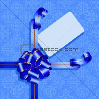 Celebratory packing with dark blue bow