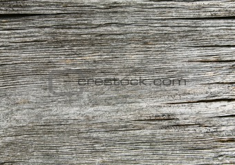 Old gray cracked wooden horizontal background
