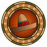 Mexican sombrero logo