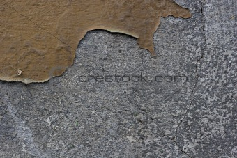 flaking color on a wall