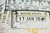 passport stamps from hong kong