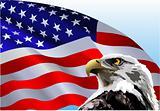 The American FlagBald Eagle American Flag