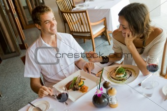 Couple At Dinner