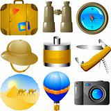 Adventures icon set