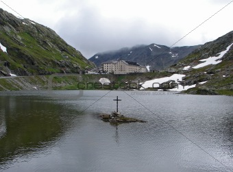 Great St Bernard pass and monastery
