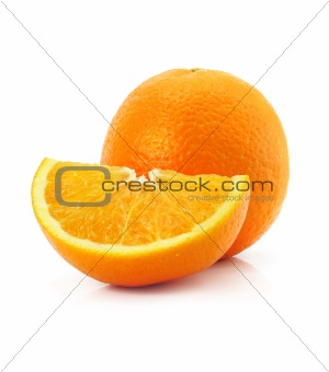 citrus orange fruit isolated on white
