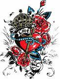 tribal heart emblem
