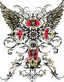 Gothic Cross Tribal Tattoo