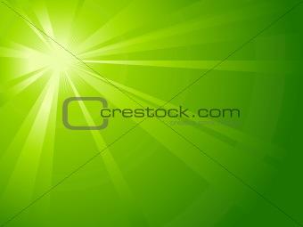 Asymmetric green light burst