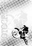 motocross dots poster background