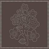 Seamless flower-pattern