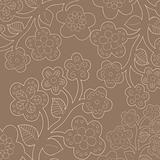 Seamless flower-patterned wallpaper