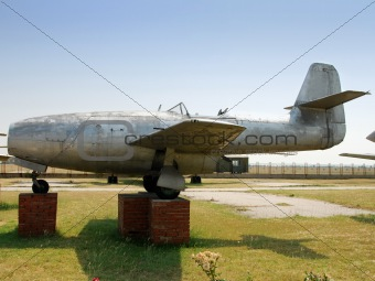 Old jet airplane