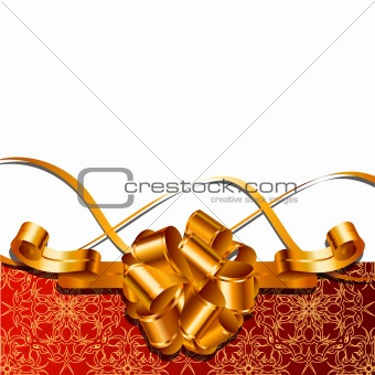 Background composition with gold bow