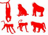 Monkey silhouettes