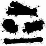 ink splat black blank