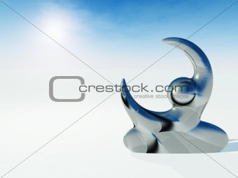 Abstract Sculpture Human Reach