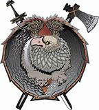 Shield with griffins
