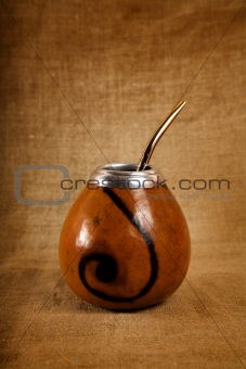 Argentinean Calabash cup with Bombilla