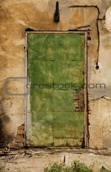 Old grungy door