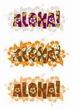 Vector illustration of aloha word