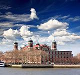 The main immigration building on Ellis Island