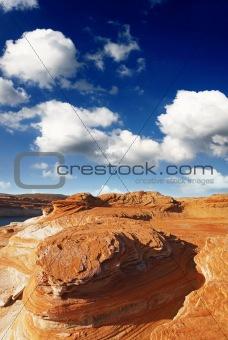 rock formations at glen canyon