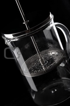 French-press in black background_3