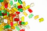 Gummi-bears on white background
