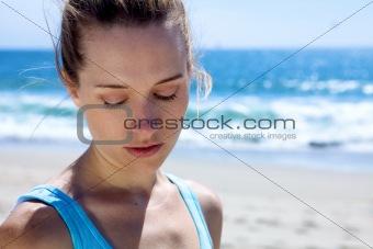 Beautiful Woman at the Beach