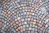 Cobblestone pavement texture