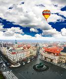 aerial view of Prague's Old Town Square