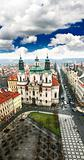 aerial view of Prague&#39;s Old Town Square