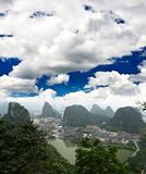 The scenery of Guilin City