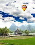 The scenery of Guilin countryside