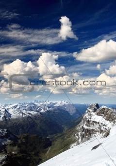 titlis snow covered mountain