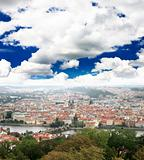Aerial view of Prague City