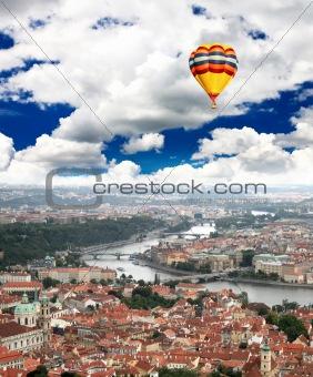 Aerial view of Prague Castle