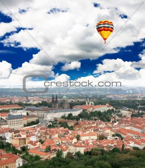 Aerial view of Prague Castle