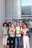 Portrait of happy student group