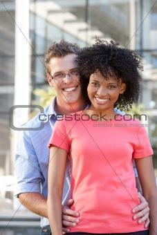 Portrait of happy students