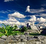 Tulum ruins in the Maya World near Cancun