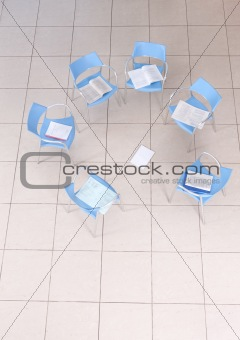 chairs in an empty space