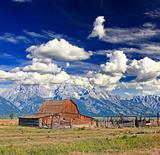 The Moulton Barn in Grand Teton National Park