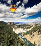 The Yellowstone River in Yellowstone NP
