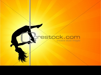 Acrobatic pole dancer