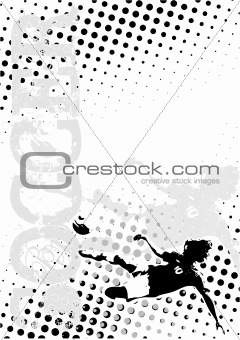 soccer dots poster background