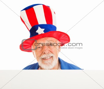 Uncle Sam Head - Happy