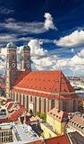 The famous Frauenkirche Church in Munich